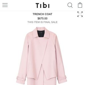 Brand new Tibi trench coat in blush color